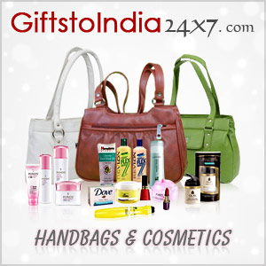 Send ladies bags and cosmetics to Her in India