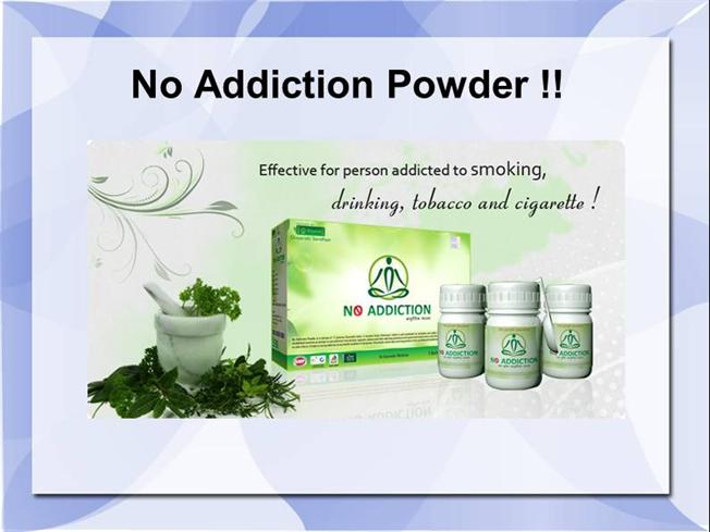 No addiction powder, For quit all types of Addicitons