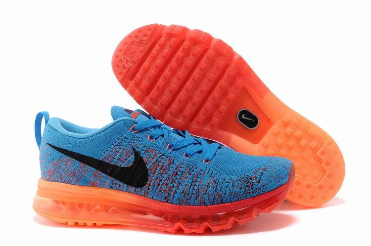 Cheap Nike Flyknit Air Max Royal Blue Orange www.Cheapsmax2015.org