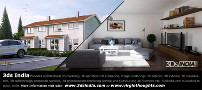 3D Rendering, 3D Visualization, 3D architecture models, 3Ds India