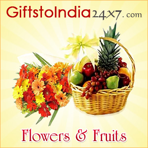 Present  flowers and fruits as gifts on any occasion or festival