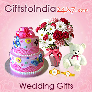 Send gifts to the newly wed in India